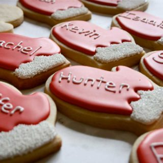 beschriftetchristmascookies